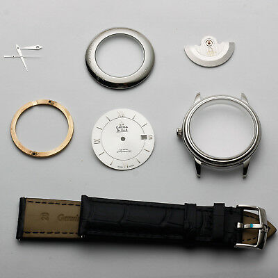 38mm dial full STEEL FIT 2824 watch parts de ville case kit for repair service