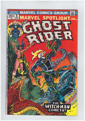 Marvel Spotlight # 8  4th Ghost Rider  The Witch-Man !  grade 6.5 scarce book !