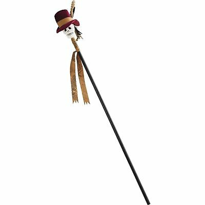 Adult VOODOO CANE with SKULL Top Pirate Jack Sparrow 112cm High Witch Doctor