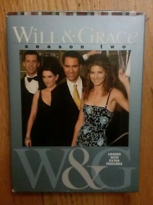Will and Grace - Second Season 2 (DVD, 2004, 4-Disc Set)  Preowned