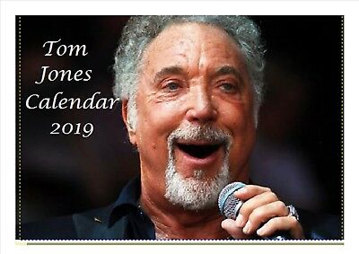 Tom Jones Calendar 2019 Desktop A5