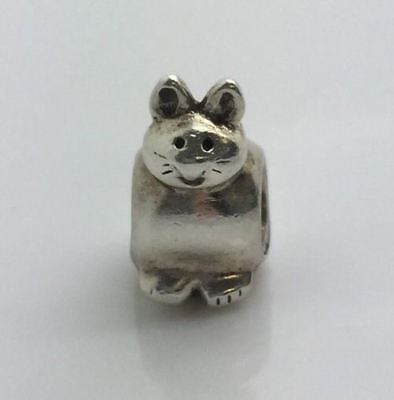 Authentic Pandora Sterling Silver Kitty Bead 790284 RETIRED 925 ALE