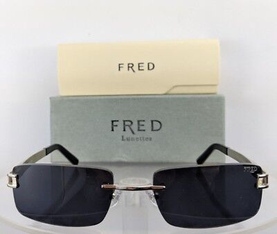 6f6155295fe Brand New Authentic Fred Sunglasses 140 HAWAI F1 Color 114 Silver Navy  Rimless