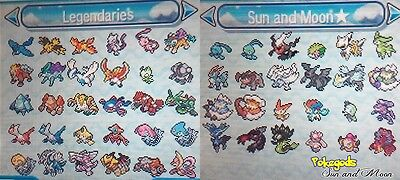 (SUPER OFFER!) **SUN AND MOON** Choose your legendary pokemon **6 IVS&Shiny**
