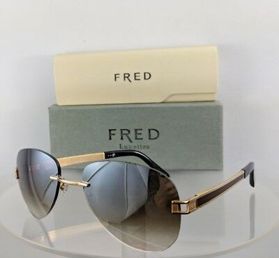 ae63e4d184b Brand New Authentic Fred Sunglasses 140 HAWAI Vintage F1 Gold Brown Frame