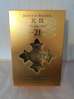 Johnnie Walker XR 21 Year Blended Scotch Whiskey Bottle Box Excellent Condition