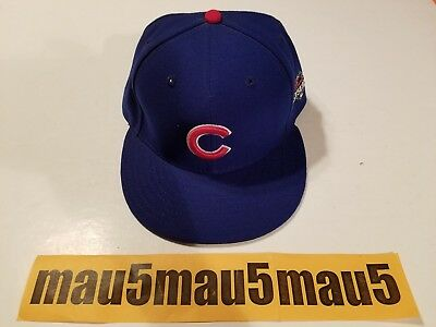 19ccd1535d1 New Era 59 Fifty MLB Chicago Cubs 2015 Post Season Fitted Hat Cap Baseball  7 1
