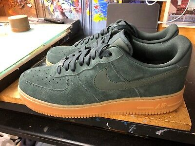 Nike Air Force 1  07 LV8 Suede Outdoor Green Size US 11.5 Men s AA1117 300 a647ca5ae