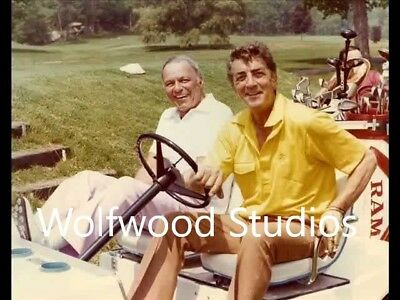 Vintage Frank Sinatra and Dean Martin sitting and playing golf PUBLICITY PHOTO