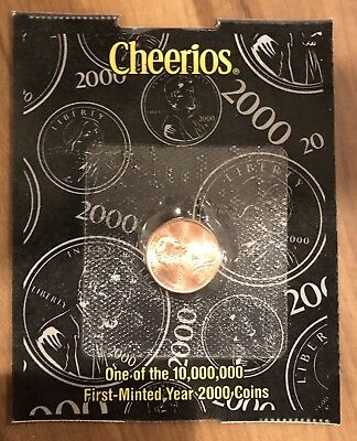 NEW SEALED Cheerios Promotion 2000 Lincoln 1 Cent Penny Uncirculated UNC!