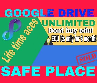 –70% Unlimited Storage Google Drive For Life Time Not Edu On Existing Ac