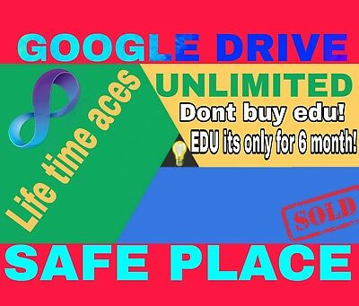 Buy 1 Win 1 Free Unlimited Storage For Google Drive For Life  On Existing Acc
