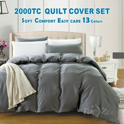 1000TC Single/KS/Double/Queen/King/Super King Size Quilt/Duvet/Doona Cover Set