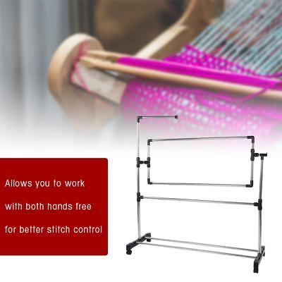 Adjustable Large Cross Stitch Frame Stainless Steel Embroidery Hoops Floor Stand