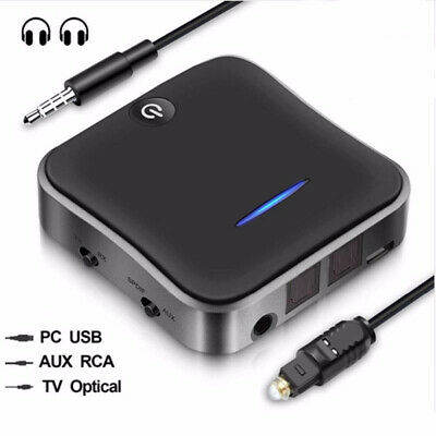 Bluetooth 5.0 Transmitter Receiver Audio Optical Wireless Adapter HD for TV PC