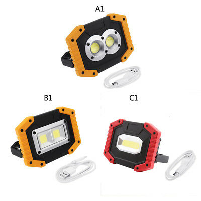 Waterproof 30W Portable COB LED Work Light USB Rechargeable Outdoor Camping Lamp