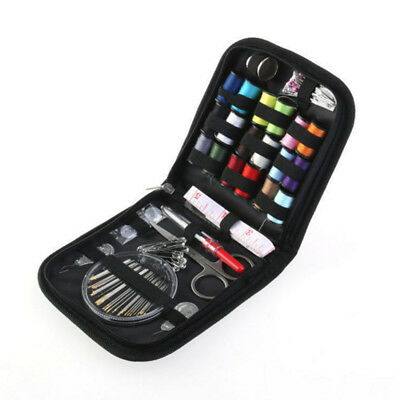Portable 70Pc Home Travel Thread Threader Needle Tape Measure Scissor Sewing Kit