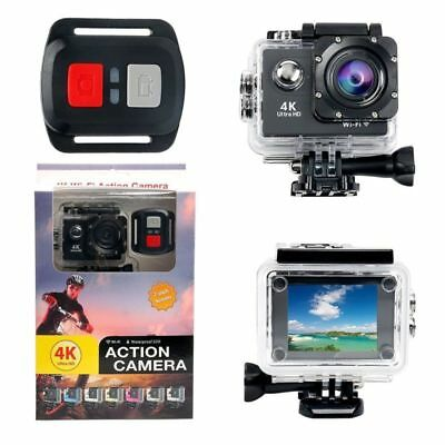 4K HD 12MP Waterproof Sport Camera WiFi DV Action Sports Camera  2'' LCD Screen
