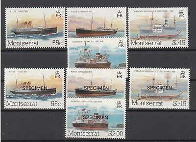 Montserrat: 1984 Mail Packet Boats set + Specimen set. MUH/MNH.SG 615-618. Cheap