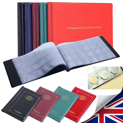 120/240 Pockets Coins Album Money Penny Holders Storage Book Collection Case UK