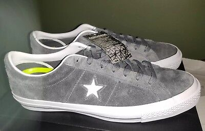 Converse One Star Suede OX Mens Low Top  Shoes Grey/White 153962C Size 12 (New)