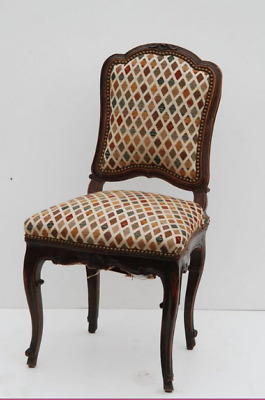 Antique Louis XV Walnut Carved Chaise, mid 18th Century Chair