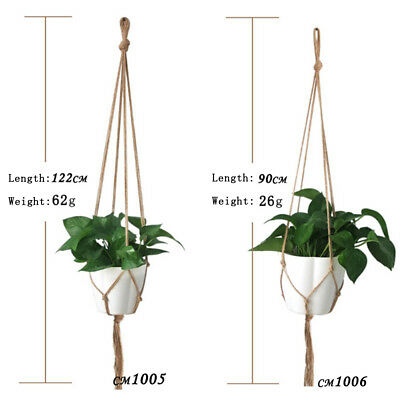 Pot holder macrame plant hanger hanging planter basket jute braided rope craft I
