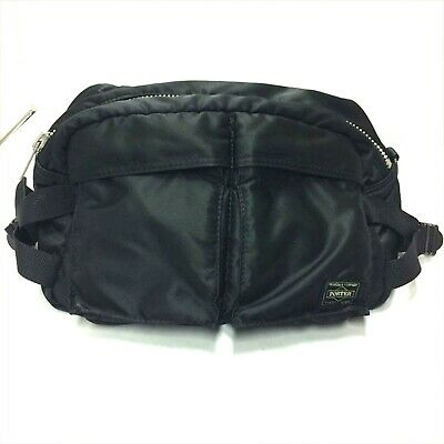 Used Yoshida Porter 622-08302 Tanker Waist Bag L Black Used F S from 317c4085f0863