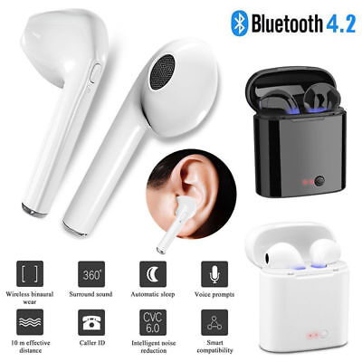 Bluetooth i7S TWS EarBuds | For iPhone Samsung Headphones Wireless Earphone