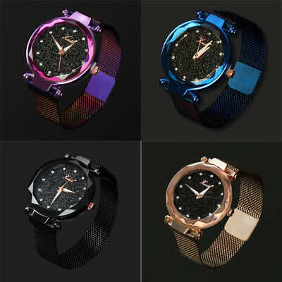 Luxury Women Starry Sky Watch Magnet Strap Buckle Fashion Star Watch Lover Gifts