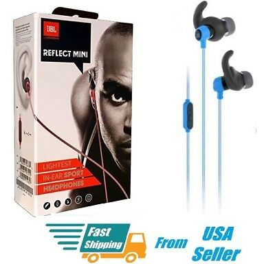 2072b59f1e4 NWT JBL Reflect Mini In-Ear 3.5mm Stereo Wired Sweat proof Earbud Headphones