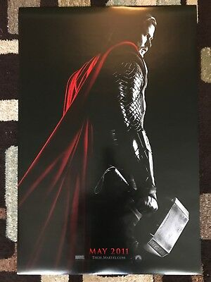 Thor Original Movie Poster 27X40 Double Sided U.S. Advance 2011 Marvel Poster