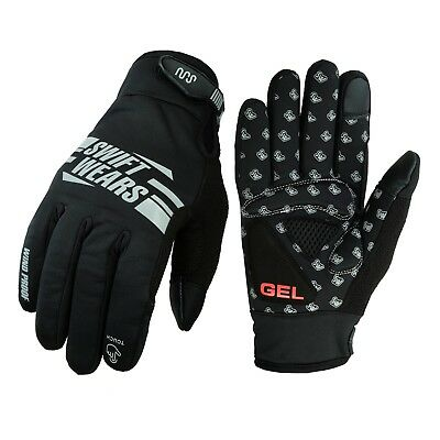 Swift Cycling Gloves Windproof Gel Padded Touchscreen Full Finger Biking Gloves