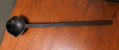 Antique Cast Iron Spouted Ladle Hand Forged 19th Century