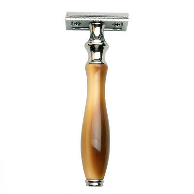 Men's Classic Traditional Double Edge Zinc Shaving Safety Razor W/ No Blade M6T8