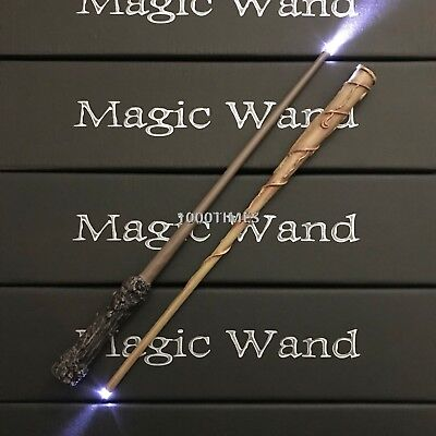 Hermione + Harry Potter Magic Wand Combo Set w/ LED Light Cosplay Costume