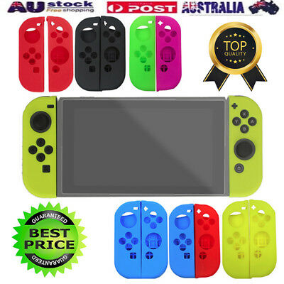 Soft Silicone Case Cover Skin Protector Kit Accessories For Nintendo Switch AU