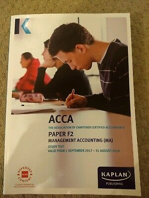 KAPLAN ACCA F2 Management Accounts Study Revision Book