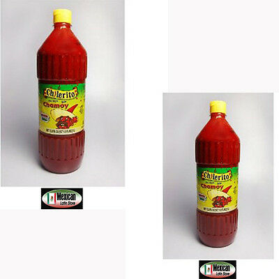 2-Mexican Hot Sauce Chilerito Chamoy (Mejor chamoy de Mexico) 1L bottle x 2