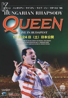 QUEEN - HUNGARIAN RHAPSODY: Live in Budapest  - Japanese chirashi flyer
