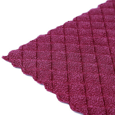 Water Absorption Waffles Microfiber Cleaning Cloths Set Dish Towels Kitchen 6A