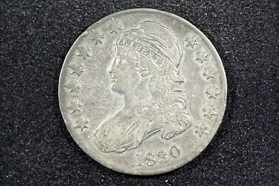 1830 Capped Bust Half, Small 0, Very Fine