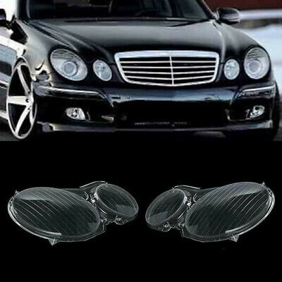Paar Headlight Cover Clear Lens  For Mercedes Benz W211 E300 E350 2002-2008