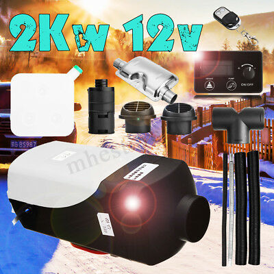 2KW 12V Air Diesel Heater LCD Thermostat Quiet 2000W For Car Trucks Boat Trailer