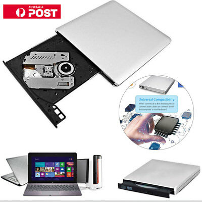 External USB 2.0 DVD CD RW Drive Burner writer player Windows Computer  Portable