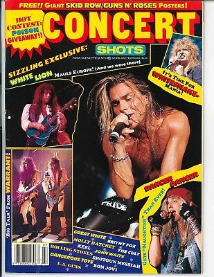 Concert Shots Magazine	July 1990	White Lion Warrant Britny Fox Whitesnake Keel