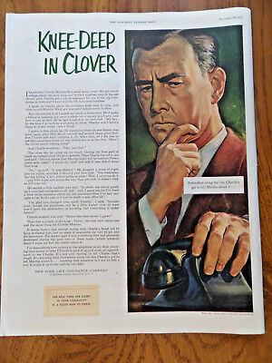 Advertising 1952 New York Life Insurance Measure Of Devotion Color Vintage Ad Other Collectible Ads