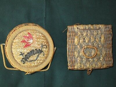 Vintage Sewing Baskets - Set of Two