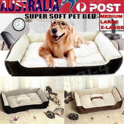 Pet Dog Cat Mattress Bed Extra Large Soft Warm Washable Padding Mat S L XXL XXXL