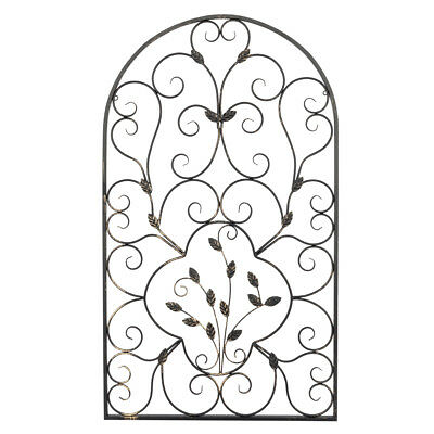 Leaf Vine Vintage style Wrought Iron Wall Rustic Art Exquisite Design